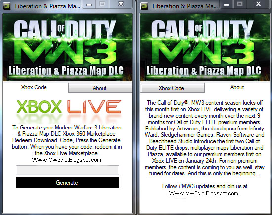 Modern Warfare 3 Liberation and Piazza Map DLC for Free on