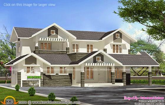 3000 sq-ft modern villa