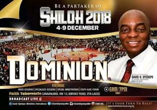Living Faith Church(Winners chapel) Shiloh 2018 -Dominion kicks off