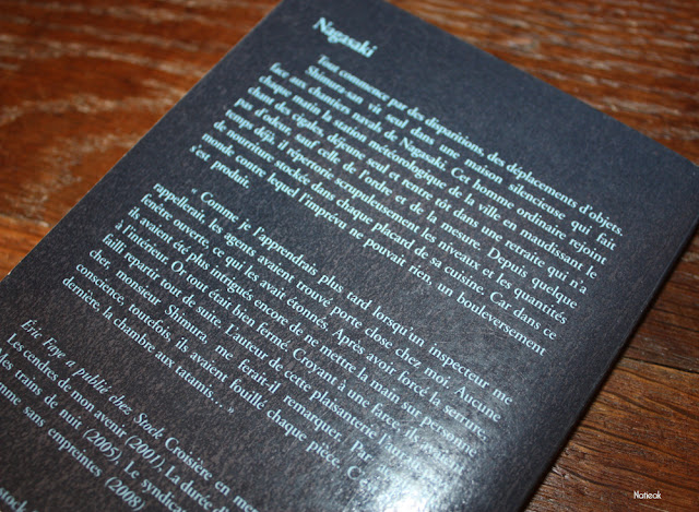 description de l'histoire de Nagasaki d'Eric Faye