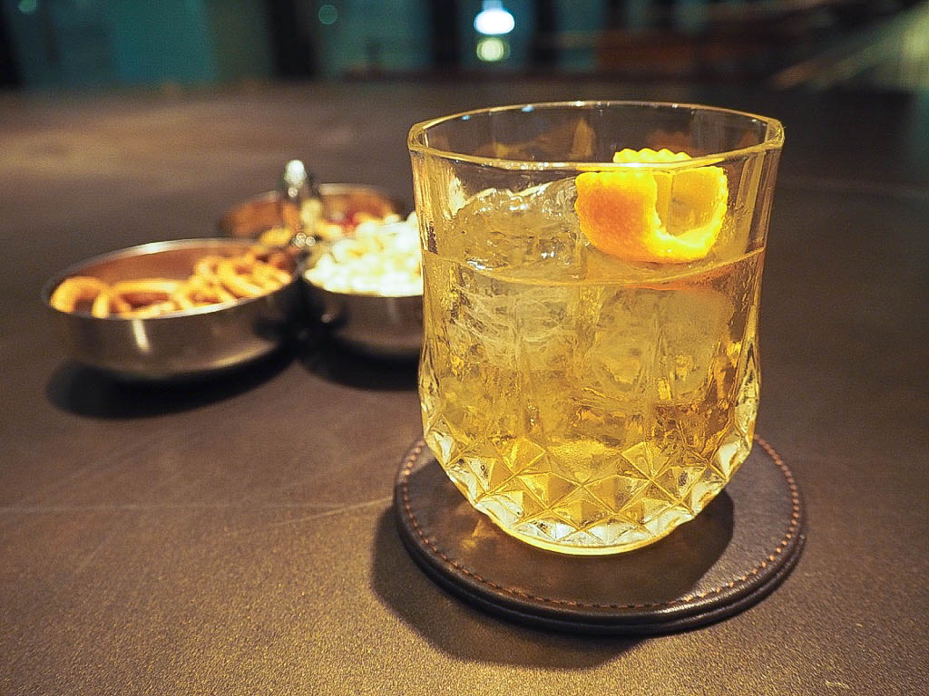 Old Fashioned cocktail at The 1515 West Chophouse and Bar in the Shangri-La hotel, Shanghai