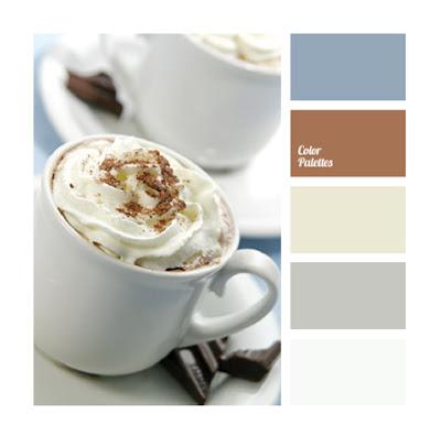 Цветовая палитра белый, серый, кремовый, коричневый, голубой