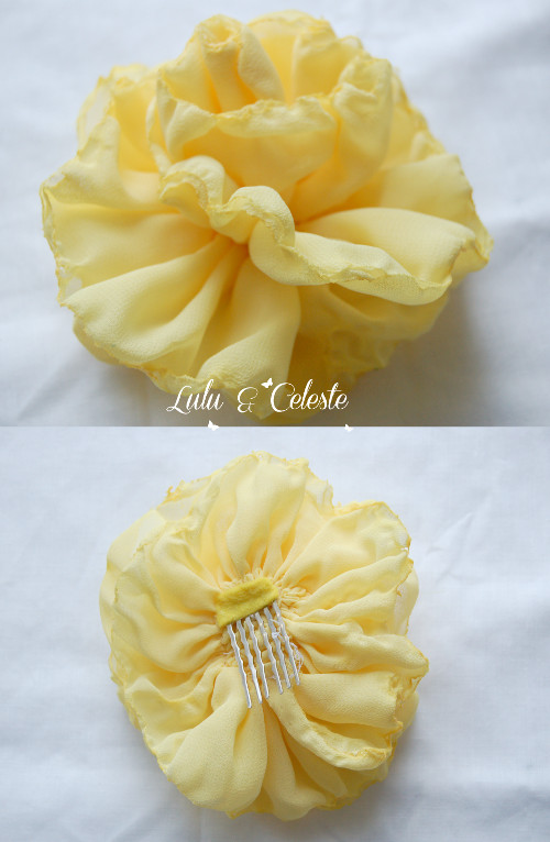 chiffon flower diy by Lulu & Celeste