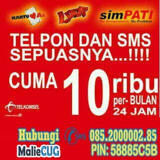 SMS Nelpon GRATIS 10rb Perbulan