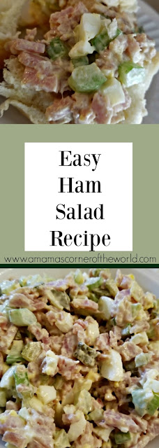 Pinnable image for homemade ham salad