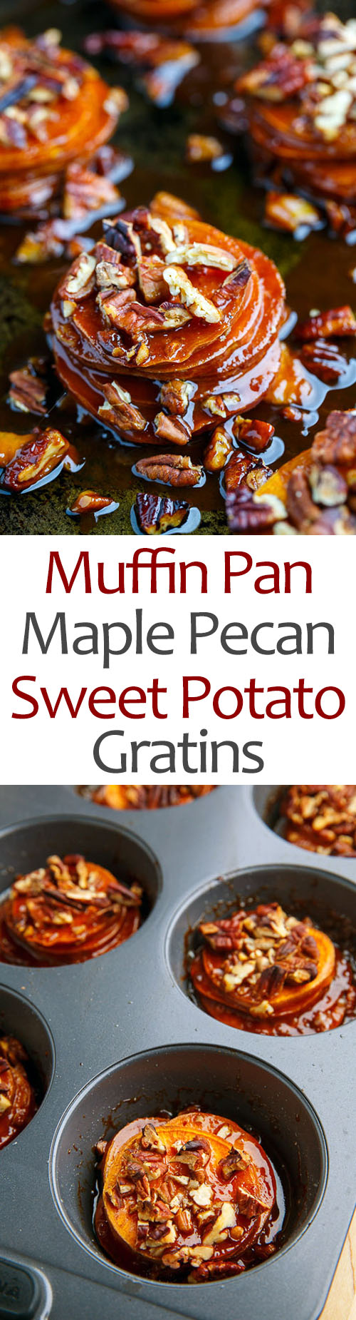 Muffin Pan Maple Pecan Sweet Potato Gratins on Closet Cooking
