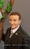 statuette sposi da foto statuine somiglianti sposo fiore all'occhiello orme magiche