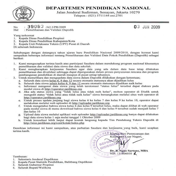Contoh format surat resmi yang benar