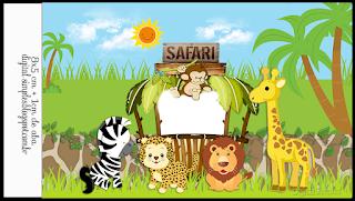 Etiquetas de Safari Bebés para imprimir gratis.