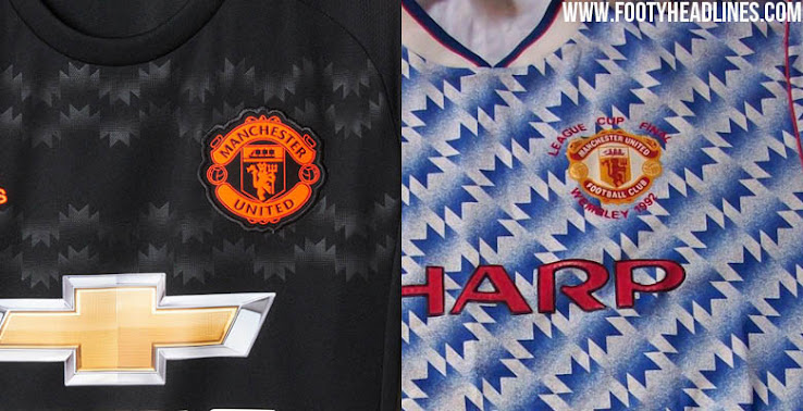 0fdf3c1b6bf A pattern inspired by the 1990-92 Manchester United Away Kit graces the  upper part and the shorts of the Adidas Manchester United Third Jersey.