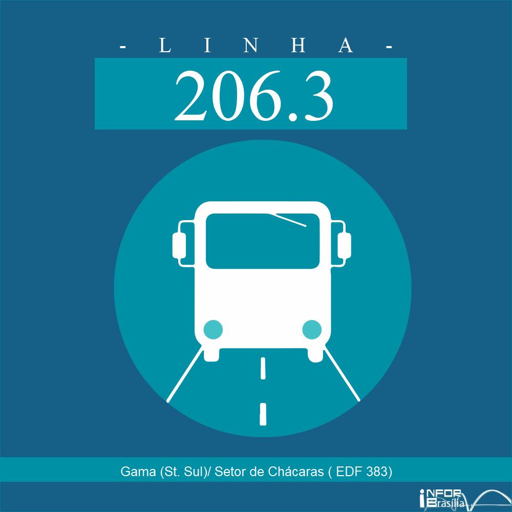 Horário de ônibus e itinerário 206.3 - Gama (St. Sul)/ Setor de Chácaras ( EDF 383)