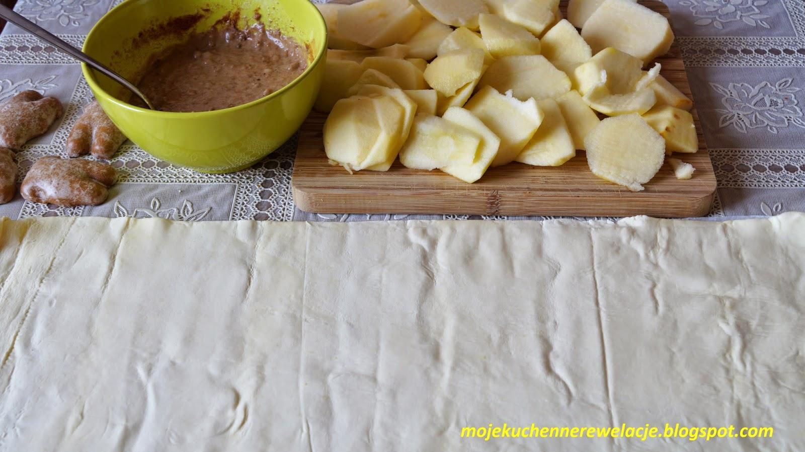 jabłecznik z ciasta francuskiego