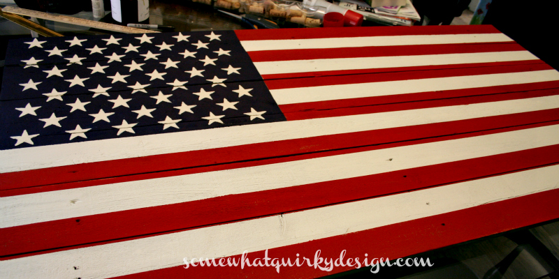 Somewhat Quirky How To Make An American Flag