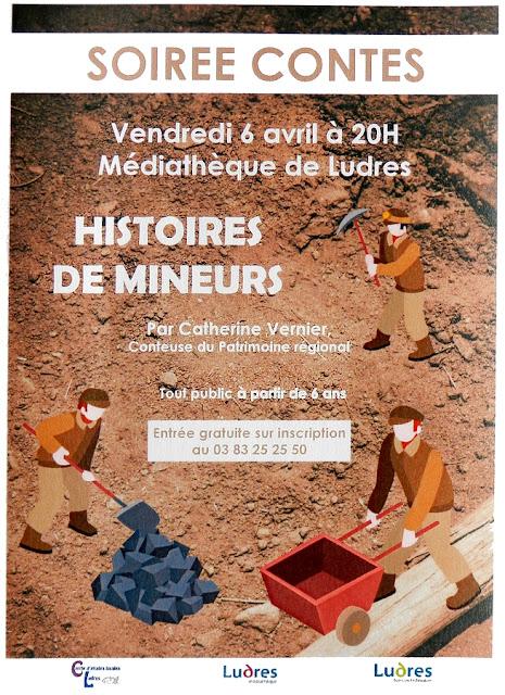 """LUDRES (54) - Soirée contes """"Histoire de mineurs"""" (6 avril 2018)"""