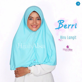 Hijab Alsa Berri Biru Langit