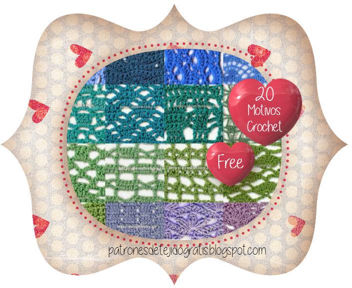 20 Patrones de Puntos Crochet Calados | Patrones para Crochet