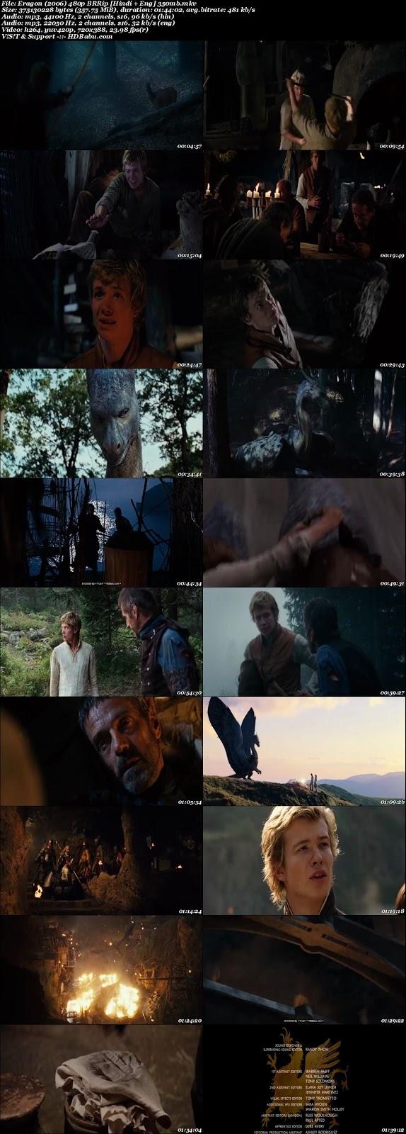 Eragon (2006) 480p BRRip [Hindi + Eng] 350mb