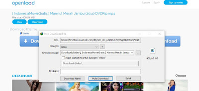 Cara Download Film atau File di OPENLOAD