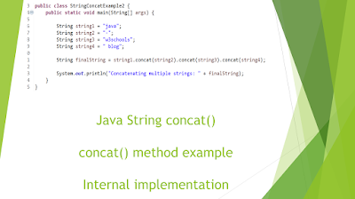 String concat() in java with example