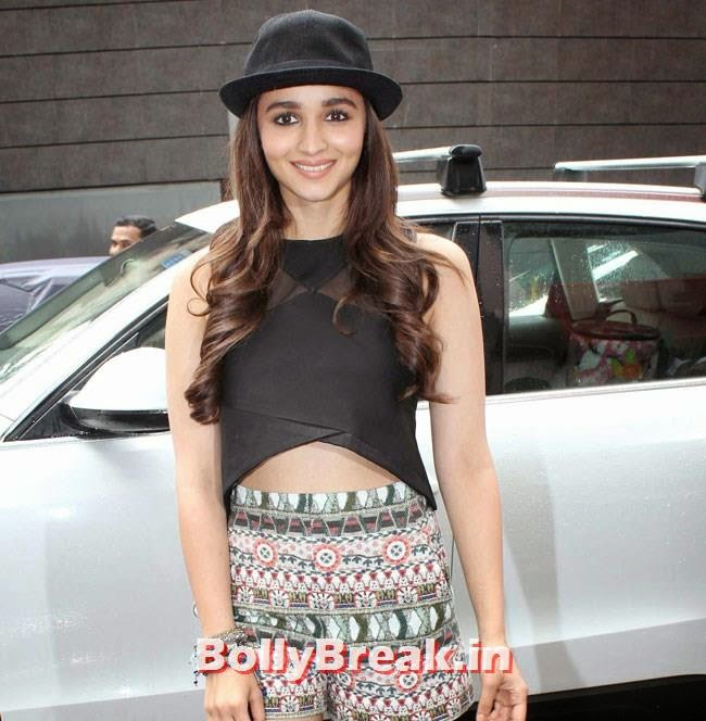 Alia Bhatt promote Humpty Sharma Ki Dulhania , Alia Bhatt Pics with Cap & in Short Skirt