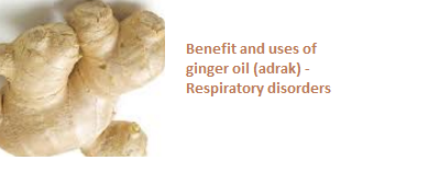 Benefit and uses of ginger oil (adrak) -  Respiratory disorders