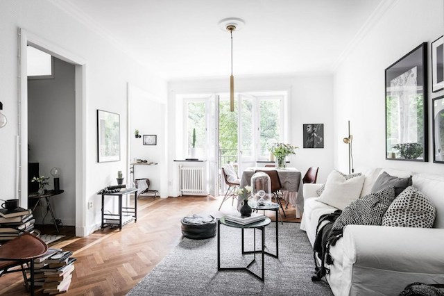 A Soothing Grey Swedish Apartment With A Lovely Balcony