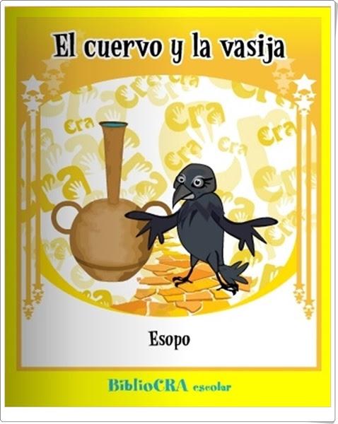 """""""El cuervo y la vasija"""" de Esopo"""