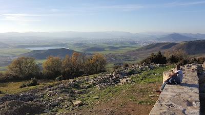 Overlooking the Aranguren Valley, with Pamplona in the distance