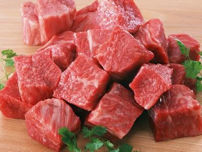 Thịt bò cắt to bản 0,5cm