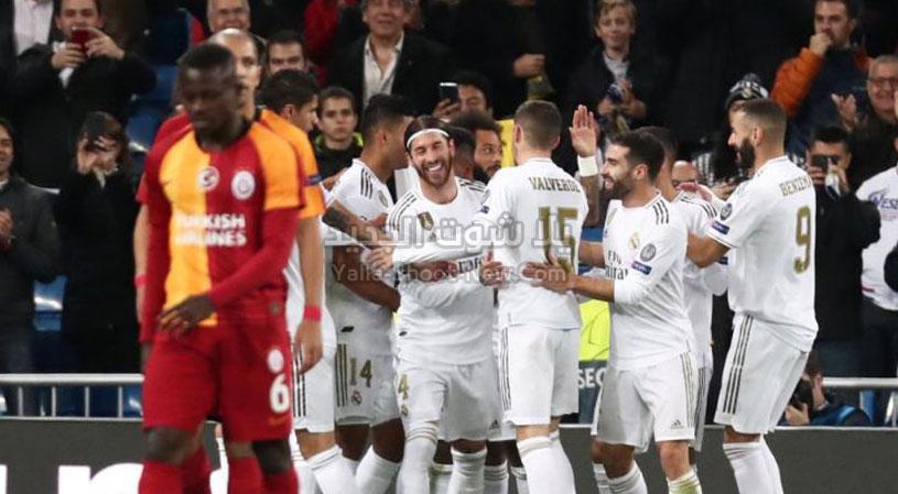 نصف دسته من الاهداف لـ ريال مدريد على غلطة سراي في الجولة الرابعه من دوري أبطال أوروبا