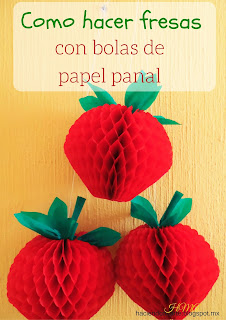 Fresas con papel (con molde)   Clic en la imagen