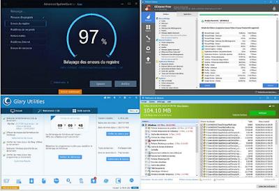تنظيف جهاز الكمبيوتر بالكامل وبالمجان عن طريق ثلاثة برامج CCleaner  وGlary Utilites  وAdvanced SystemCare