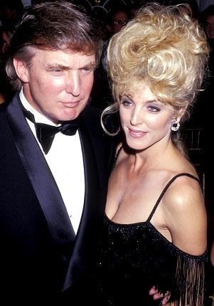 Foto de Donald Trump junto a su ex esposa Marla