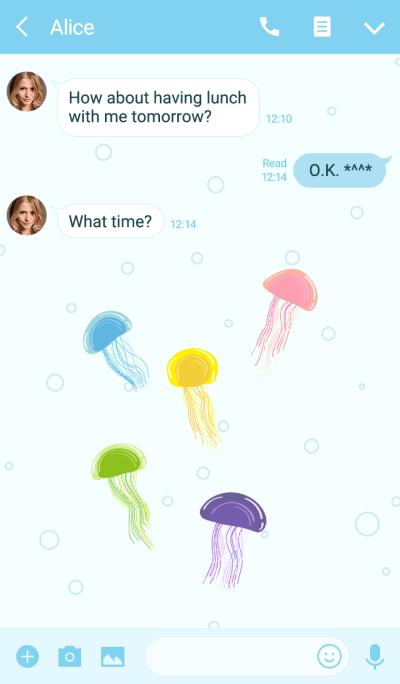 Romantic fun jellyfish
