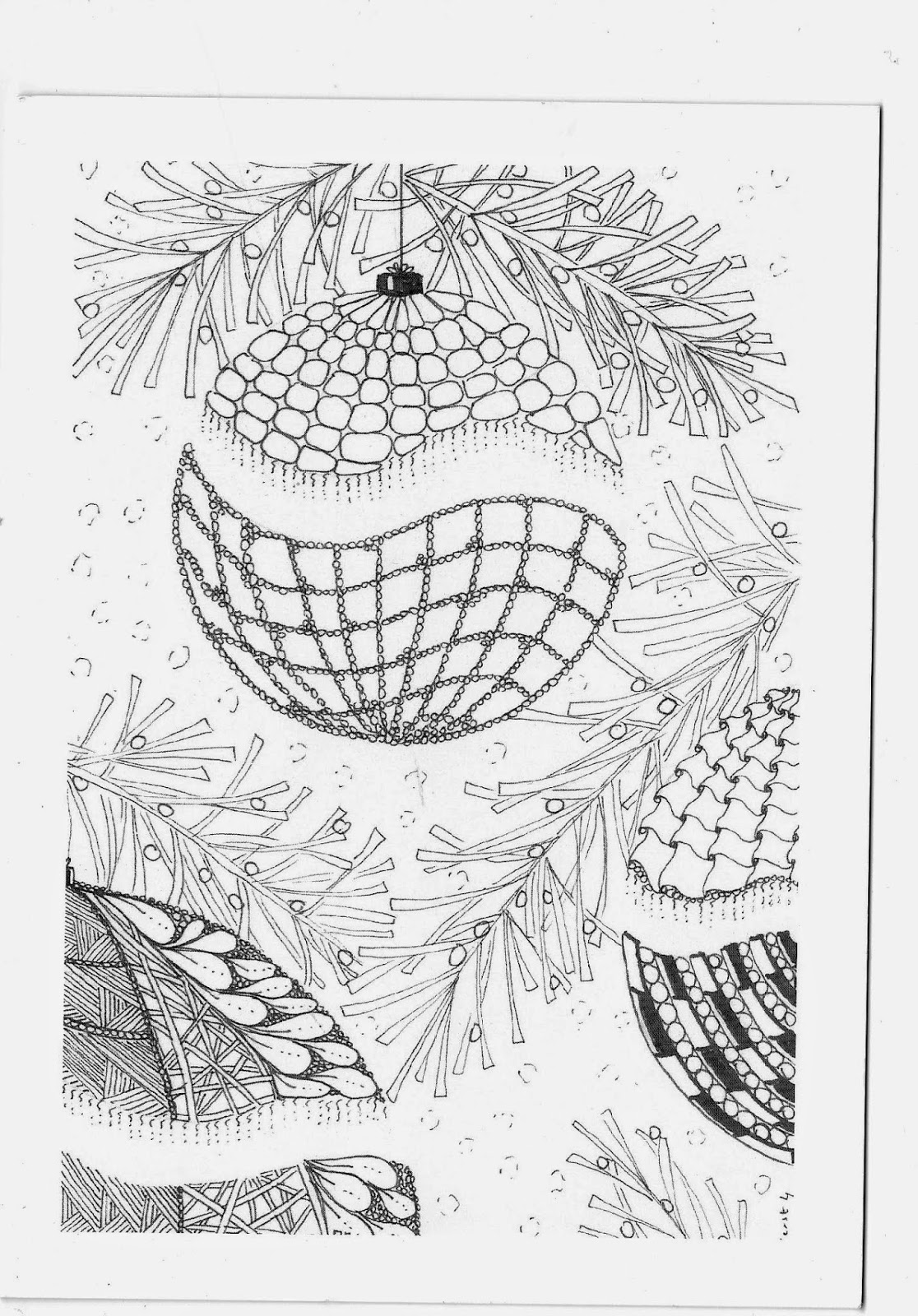 Efie Goes Zentangle Kerstkaartjes Swap
