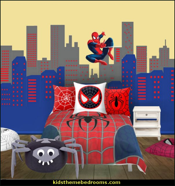 Superhero Bedroom Wallpaper Bedroom Accessories Bedroom Ideas Young Couple Bedroom Furniture Floor Plan: Decorating Theme Bedrooms
