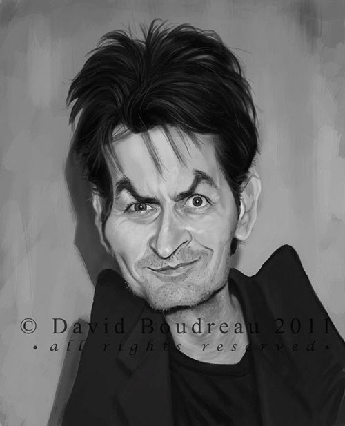 """Charlie Sheen"" por David Boudreau"