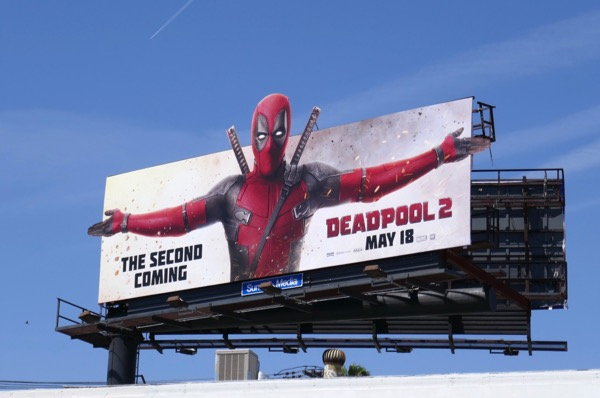 Deadpool 2 extension cut-out billboard