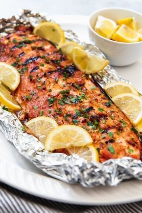 Grilled Soy Brown Sugar Salmon In Foil