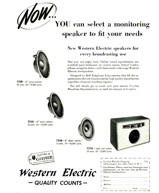 Western Electric For Broadcasting Use