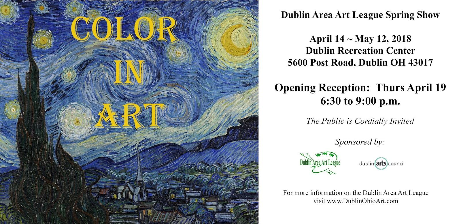 Color in Art - Spring 2018 DAAL Member Show | Dublin Area Art League