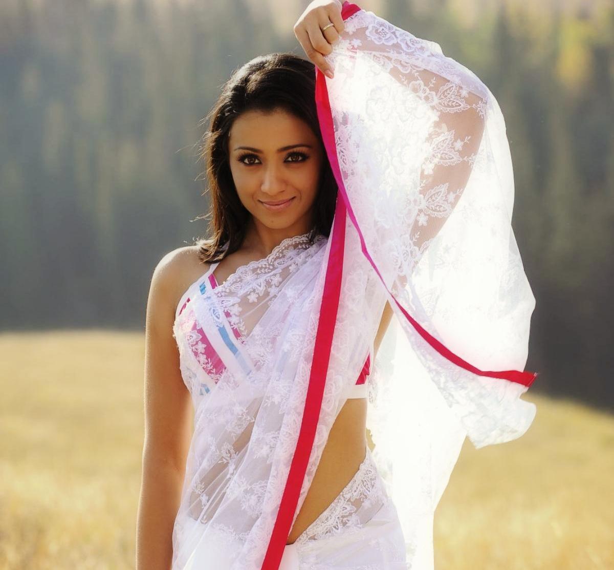 Trisha Krishnan Saree Photos HD