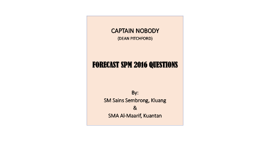 Captain Nobody Forecast Questions 2016
