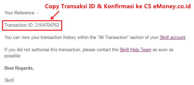 Cara Transfer Dan Menjual Saldo Skrill di Emoney
