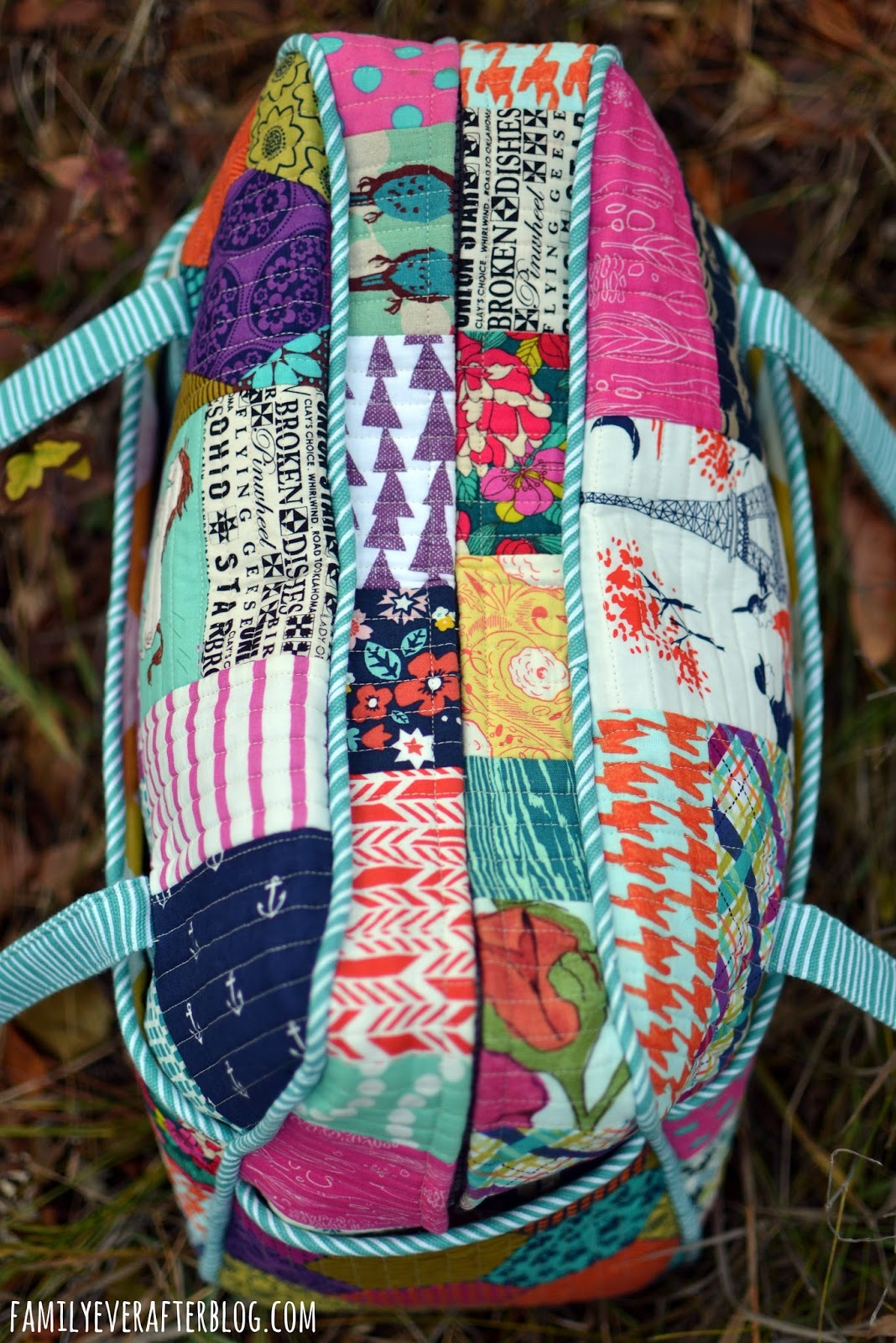 Family Ever After My Fave Fabric Quilted Weekender Bag