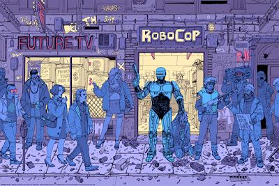 RoboCop Variant Screen Print by Josan Gonzalez x Mondo