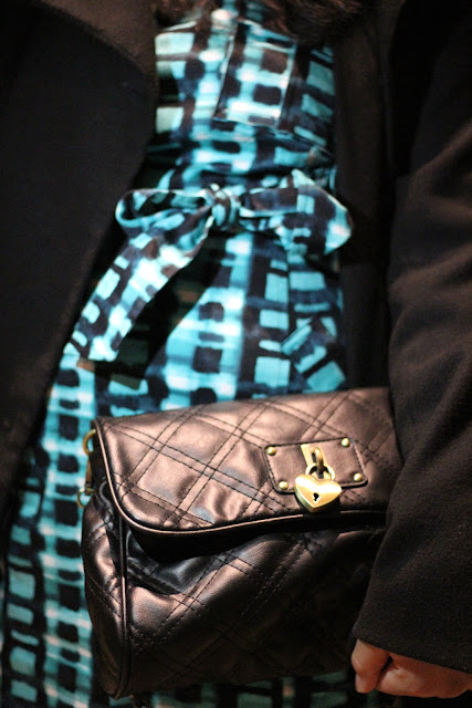 Forever 21 Quilted Black Clutch