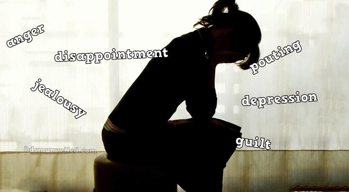 feeling down with negative feelings