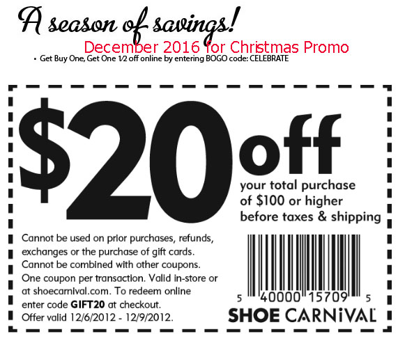 Shoe carnival discounts and coupons