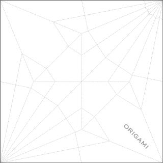 折り鶴の展開図を表現した表紙